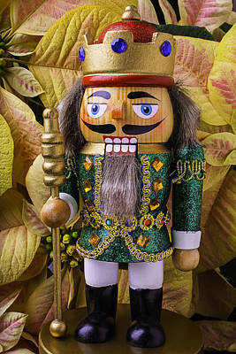 Nutcracker And Poinsettia Poster by Garry Gay