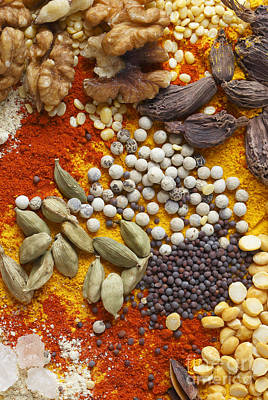 Nuts Pulses And Spices Poster by Paul Cowan
