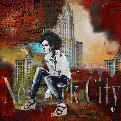 Ny City Collage 5 Poster by Corporate Art Task Force