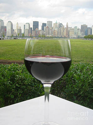 Nyc Wine Glass Poster by Judee Stalmack