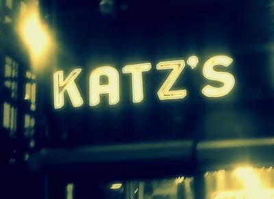Nyc's Famous Katz's Deli Poster by Paulo Guimaraes