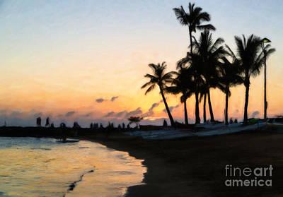 Oahu Sunset Poster by Jon Burch Photography