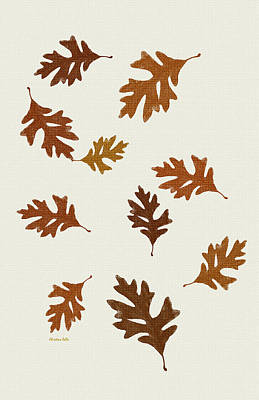 Oak Leaves Art Poster by Christina Rollo