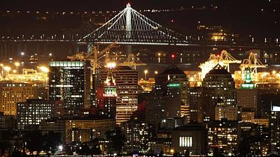 Oakland California Skyline Poster by Georgia Fowler