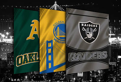 Oakland Sports Teams Poster by Joe Hamilton