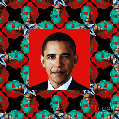 Obama Abstract Window 20130202p0 Poster by Wingsdomain Art and Photography