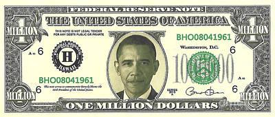 Obama Million Dollar Bill Poster by Charles Robinson