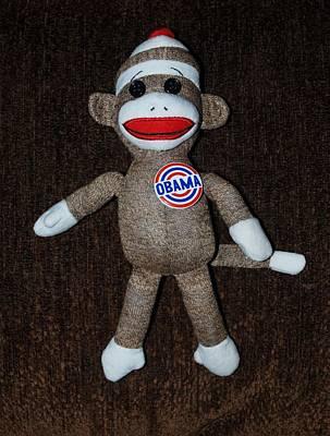 Obama Sock Monkey Poster by Rob Hans