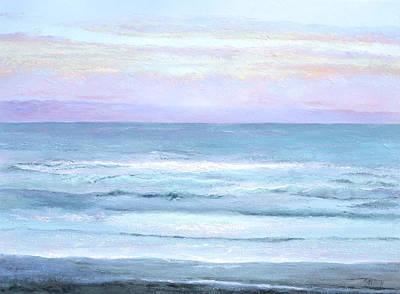 Ocean At Sunset Poster by Jan Matson