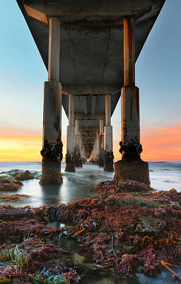 Ocean Beach California Pier 2 Poster by Larry Marshall