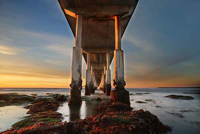 Ocean Beach California Pier Poster by Larry Marshall