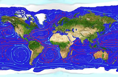 Ocean Currents Poster by Carol & Mike Werner