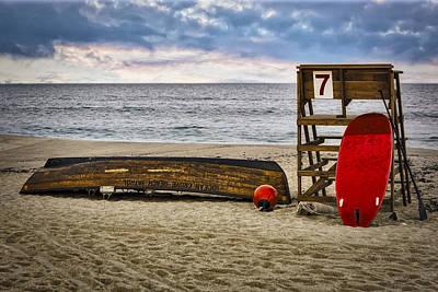 Ocean Grove Beach New Jersey Poster by Susan Candelario