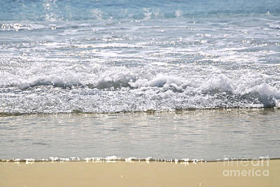 Ocean Shore With Sparkling Waves Poster by Elena Elisseeva