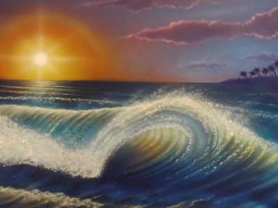 Ocean Wave Poster by Darren Robinson