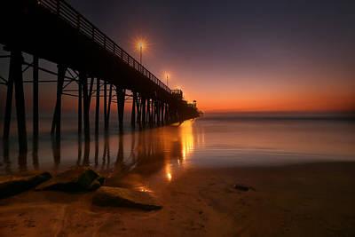 Oceanside Sunset 15 Poster by Larry Marshall