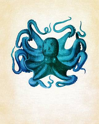 Octopus Poster by Vintage