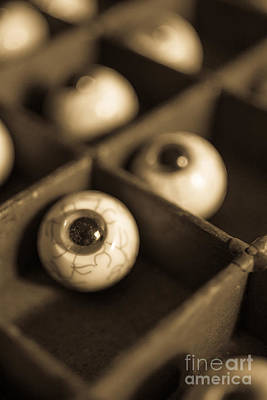 Oddities Fake Eyeballs Poster by Edward Fielding