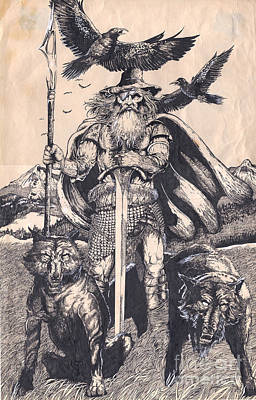 Odin Poster by Joseph Capuana