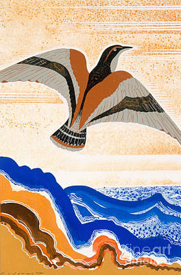 Odyssey Illustration  Bird Of Potent Poster by Francois-Louis Schmied