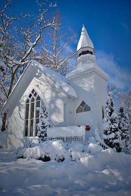 Oella Snow Church Poster by Geoffrey Baker