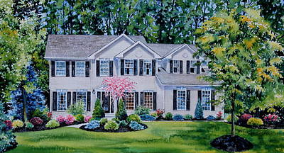 Ohio Home Portrait Poster by Hanne Lore Koehler