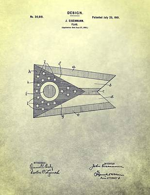 Ohio State Flag Design Poster by Dan Sproul