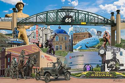Oklahoma Collage Poster by Roberta Peake