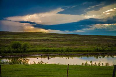 Oklahoma Landscape Poster by Toni Hopper
