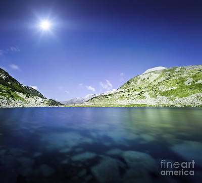 Okoto Lake In The Pirin Mountains Poster by Evgeny Kuklev