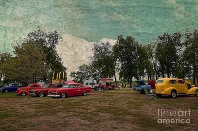 Ol Marais River Run Car Show Poster by Liane Wright