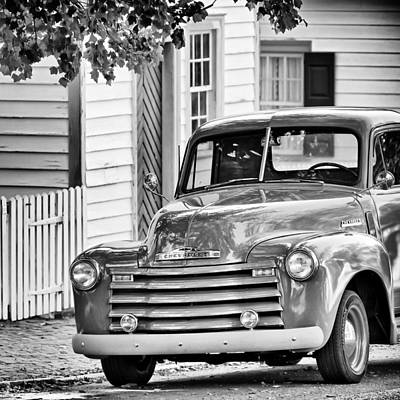 Old Chevy Truck Bw Poster by Patrick M Lynch