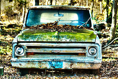 Old Chevy Truck Poster by Lorri Crossno