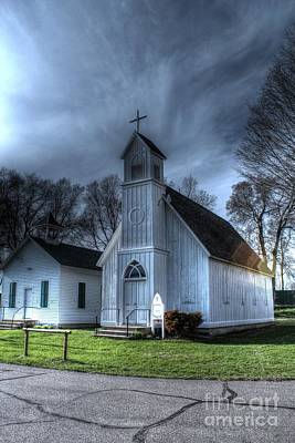 Old Church And School House Poster by Jimmy Ostgard
