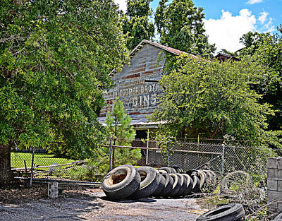 Old Cotton Gin Poster by Linda Brown