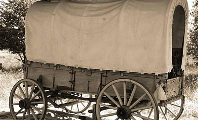 Old Covered Wagon Out West Poster by Dan Sproul