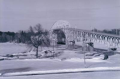 Old Crown Point Bridge In Winter Poster by David Fiske