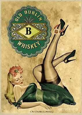 Old Dublin Whiskey Poster by Cinema Photography