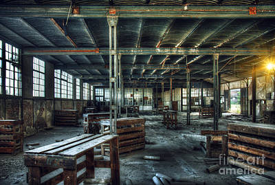 Old Factory Ruin Poster by Carlos Caetano