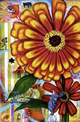Old Fashion Garden Poster by Andrea LaHue aka Random Act