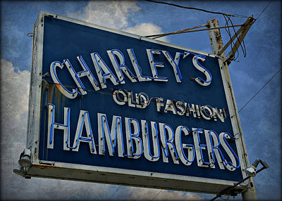 Old Fasion Hamburgers Poster by Stephen Stookey