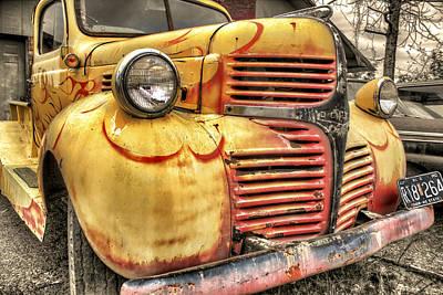 Old Flames - Antique Dodge Truck Poster by Jason Politte