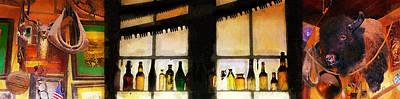Old Genoa Bar Poster by Ron Regalado