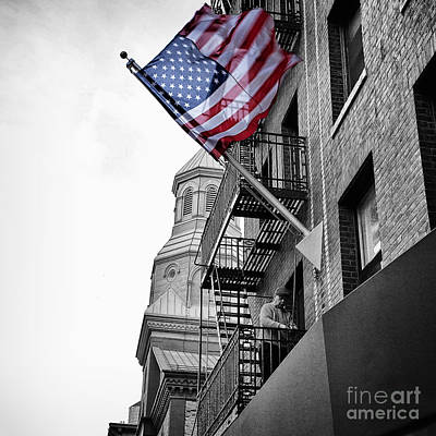 Old Glory Getting Raised Poster by John Farnan