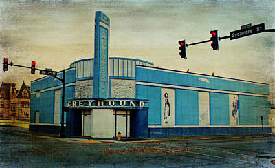 Old Greyhound Bus Station Poster by Sandy Keeton