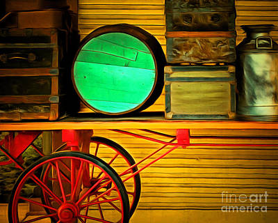 Old Luggage And Buggy 5d18420 Poster by Wingsdomain Art and Photography