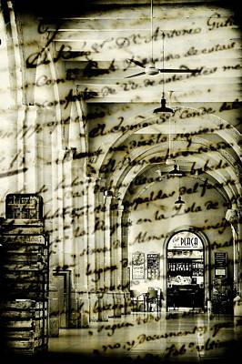 Old Mahon Town Market Poster by Pedro Cardona