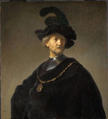 Old Man With A Gold Chain Poster by Rembrandt van Rijn
