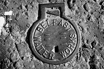 Old Metal Belfast Water Works Access Point In The Road Belfast Northern Ireland Uk Poster by Joe Fox