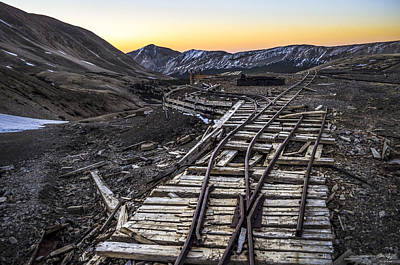 Old Mining Tracks Poster by Aaron Spong